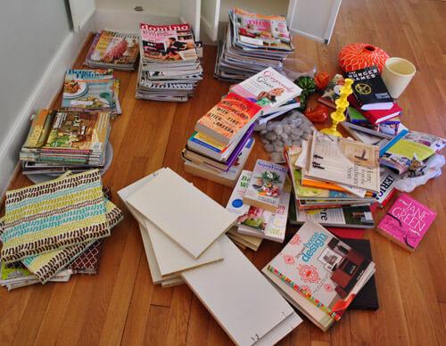 books-on-floor
