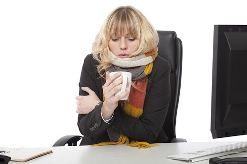 woman-cold-office